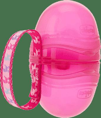 CHICCO Pouzdro na šidítko dvojité - růžové