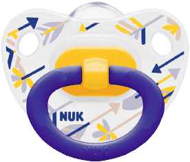 NUK Dudlík Classic Happy Days, silikon, ortodontický, velikost 2 (6-18 m) – šípy