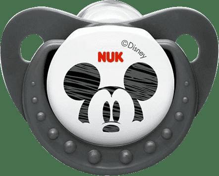 NUK Smoczek Trendline DISNEY-Mickey, silikon, rozmiar 2 (6-18 mies.) – szary