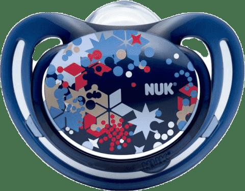NUK Smoczek FREESTYLE, silikon, rozmiar 2 (6-18 mies.) – granatowy, gwiazdki