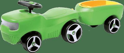 BRUMEE Jeździk + przyczepka BRUMEE FARMEE zielony