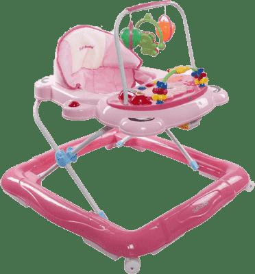 SUN BABY Dziecięcy chodzik Footy – różowy