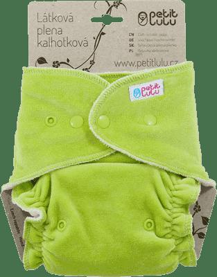 PETIT LULU Zelená maxi / nočná plienka + krátka vkladacia plienka pat