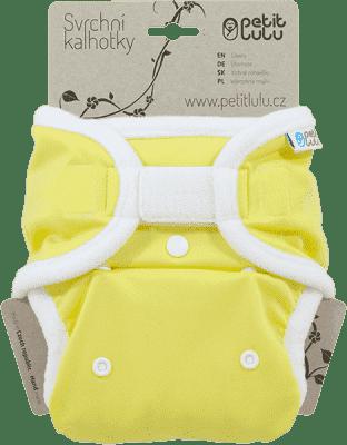 PETIT LULU Žlté (biela) - vrchné nohavičky