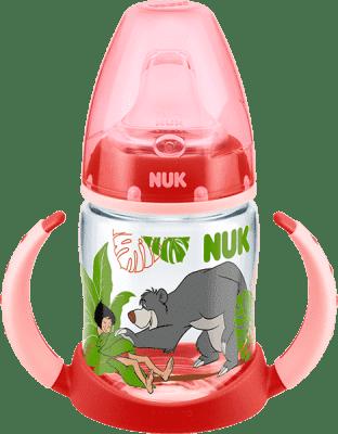 NUK FC Butelka PP, DISNEY KSIEGA DZUNGLI 150 ml, silikonowy ustnik - czerwona