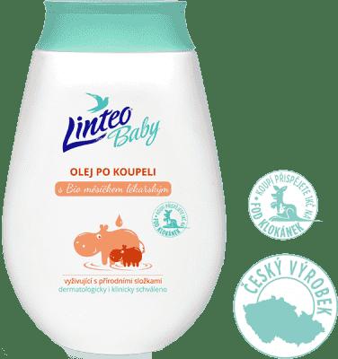 LINTEO Baby Detský olej po kúpeli s Bio nechtíkom lekárskym, 250 ml
