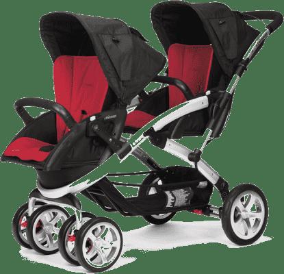 CASUALPLAY Wózek dla rodzeństwa Stwinner 2015 - Raspberry