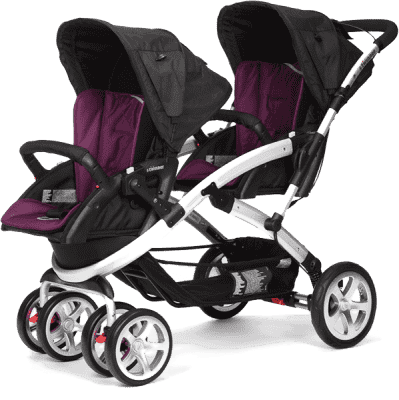 CASUALPLAY Wózek dla rodzeństwa Stwinner 2016 - Plum