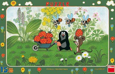 DINO Doskové Puzzle Krtko na výlete 15ks