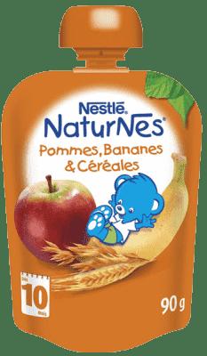 NESTLÉ Naturnes Banán / Jablko / Ovos 90g - ovocná kapsička