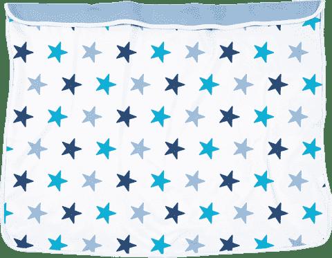DOOKY Blanket kocyk Blue Stars/Baby Blue