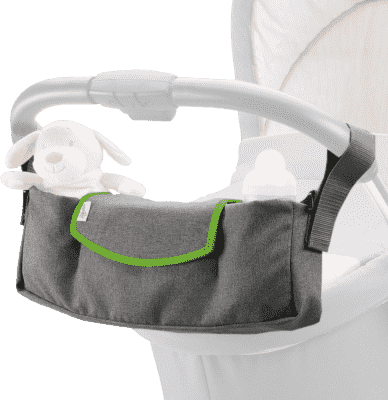 DIAGO Organizér na kočík Deluxe - šedá / zelená