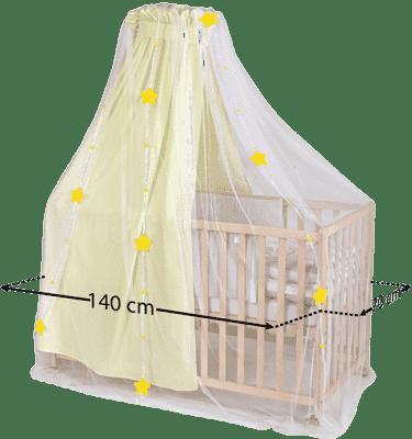 DIAGO Moskitiera do łóżeczka z gwiazdkami