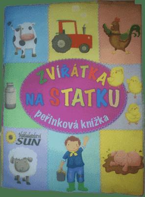 KNIHA Perinková knižka - Zvieratká na statku