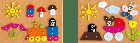 BINO Hra s kladivkom - Krtko - 2 druhy