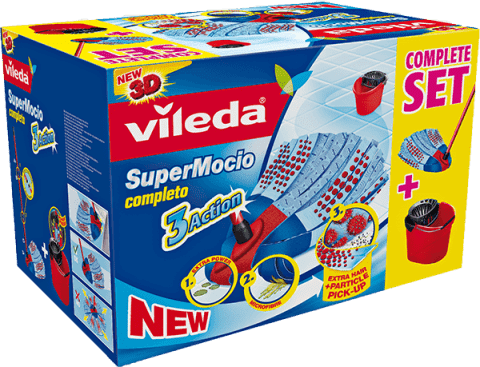 VILEDA Mop a kýbl, SuperMocio Completo 3 Action BOX