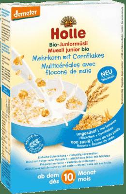HOLLE Organické junior müsli vícezrnné s kukuřičnými lupínky, 250g