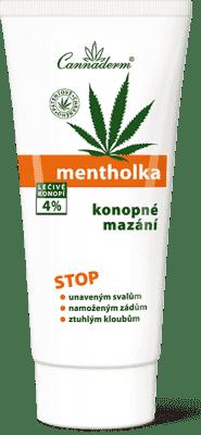 CANNADERM Mentholka konopné mazání 200ml