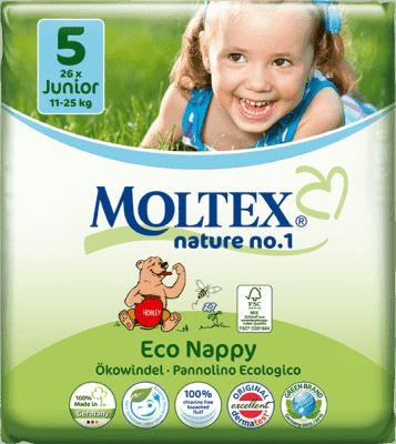 MOLTEX Nature no. 1 Junior, 26 ks (11 - 25 kg) – jednorázové plienky