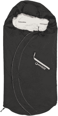 EASYGROW Lite Fusak do kočíka z bavlny a bambusu, Black
