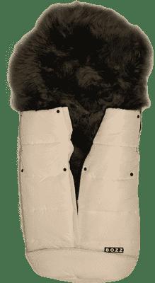 B.O.Z.Z Fusak do kočíka z ovčej vlny - dlhý vlas, White / Grey