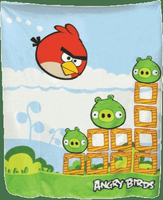 MIKRO TRADING Deka Angry Birds modrozelená