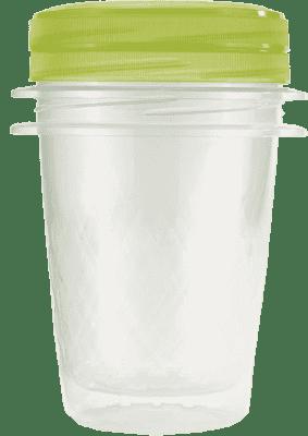 CURVER Dózy na jedlo Take Away Twist 2 x 1l, zelená
