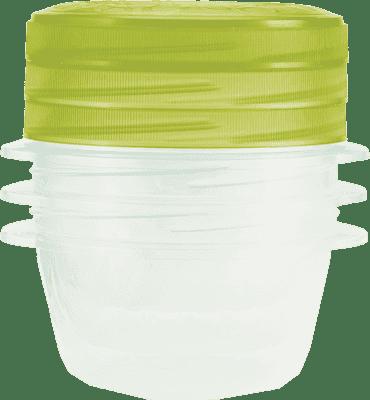 CURVER Dózy na jedlo Take Away Twist 3 x 0.5l, zelená