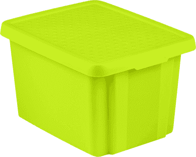 CURVER Pudełko do przechowywania z wiekiem Essentials 26l, zielone