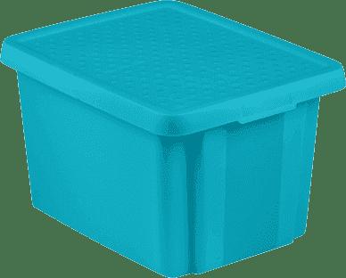 CURVER Pudełko do przechowywania z wiekiem Essentials 26l, niebieskie