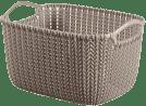 CURVER Koszyk prostokątny Knit 8l, brązowy