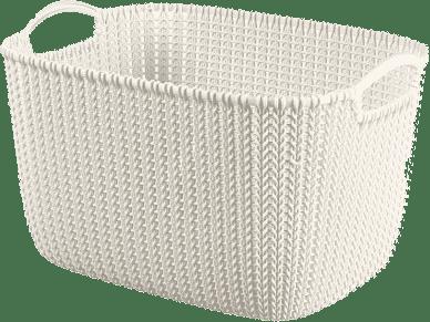 CURVER Koszyk prostokątny Knit 19l, biały