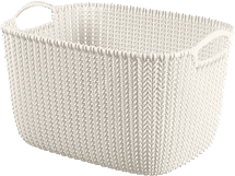 CURVER Košík obdélníkový Knit 8l, bílý