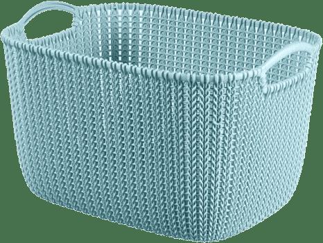 CURVER Koszyk prostokątny Knit 8l, niebieski