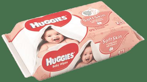 HUGGIES® Single Soft Skin, 56 ks - vlhčené ubrousky