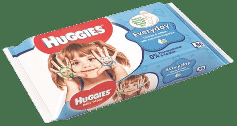 HUGGIES® Single Everyday 56 szt. - chusteczki nawilżane