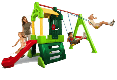 MGA Hracie centrum Clubhouse Swing Set Natural