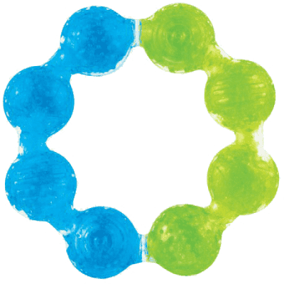 MUNCHKIN - Chladivé gélové hryzátko - krúžok - modrá / zelená