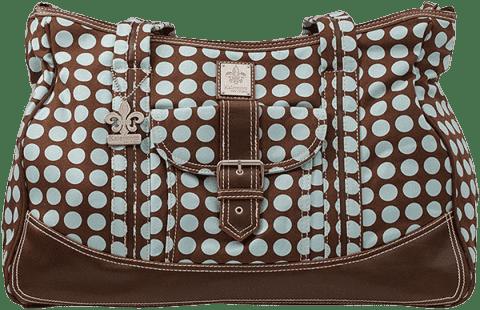 KALENCOM Prebaľovacia taška Canvas Heavenly Dots Chocolate / Blue