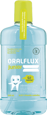 ORALFLUX Junior ovocie a mäta 500ml ústna voda