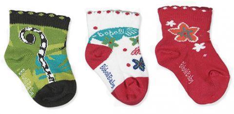 BOBOLI Ponožky 3 ks v balení, veľ. 16/18 - tmavoružová, dievčatko