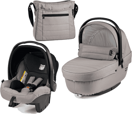 PEG-PÉREGO Set vanička + autosedačka + taška modular XL Mod beige