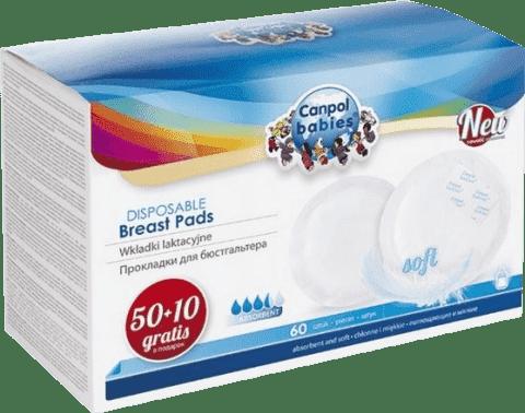 CANPOL Babies Tampóny do podprsenky anti-slip 50 + 10 ks