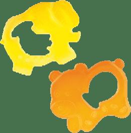 CANPOL Babies Chladiace hryzátko medvedík / slon - oranžová