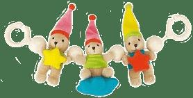 CANPOL Babies Chrastítko do kočárku plyšové medvídci s hvězdičkou