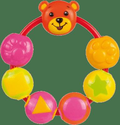 CANPOL Babies Chrastítko medvídek a korálky – holka