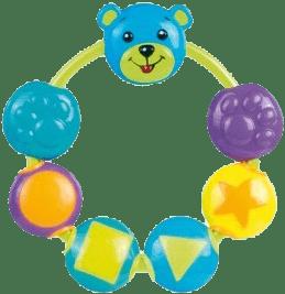CANPOL Babies Hrkálka medvedík a korálky - modrá