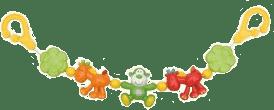 CANPOL Babies Hrkálka do kočíka žirafy a opičky