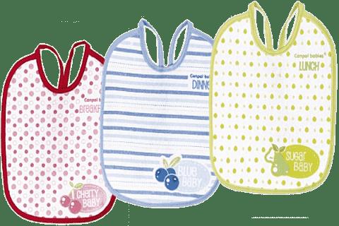 CANPOL Babies Podbradník froté / PVC 3 ks