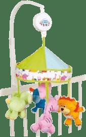 CANPOL Babies Kolotoč plyšový s baldachýnem Safari